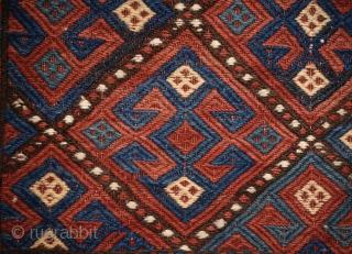 Late 19th century Karabagh soumak mafrash. 118cm x 110 cm. All natural colors.