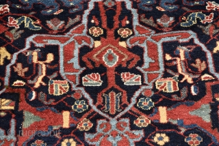 """PERSIAN ENJILAS RUG WITH FAMOUS GARRUS PATTERN  FULL PILE. IN PERFECT CONDITION.  ATTRACTIVE NATURAL COLORS.  Size: 200cm x 122cm- 78"""" x 48""""    Materials: Wool on cotton"""