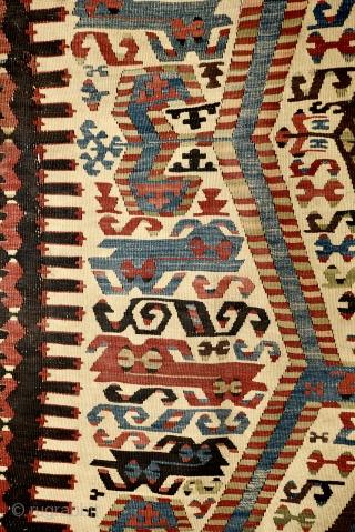 West Anatolian (Aydin) kilim fragment. 283cm x 83cm