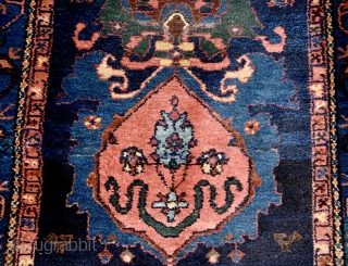 Early 20th century Persian Malayer runner. All natural colors, full pile, superb wool. 515cm x 97cm