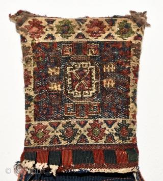 Late 19th century sumac saddlebag with cotton foundation. Probably Bakhtiari. 98cm x 31cm
