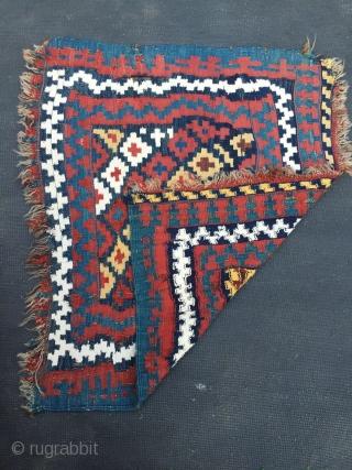 Chaharmahal and Bakhtiari double interlocking technique weave. Possibly Sefid Dasht Village. 76cm x 65cm.