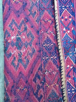 Yomoud jallar with decorative tassels.  43 cm (height incl tassels 97 cm) x 117 cm