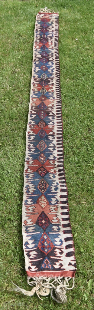 Anatolian Malatya Kilim Border. Magnificent saturated natural colors.