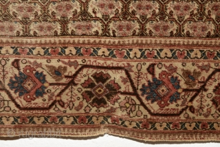Persian Tabriz with rare zili sultan pattern. The condition is good comparing to its age. It is complete with a small repair. 