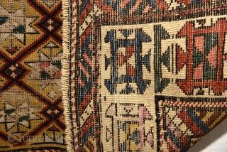 Late 19th century Caucasian Gendje. 145cm x 94cm/ 57x37 inches.