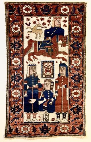 Figural Beluch Firdevsi  Khosrov and Shirin ca 1905 Size: 165cm x 100cm