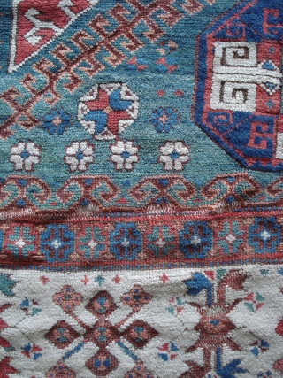 Huge fragment of an Anatolian rug, Bergama - Karakecili area,18 th century. Among the best of its type. Could use a bath and mounting.