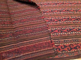 Antique Central Asian Uzbek Ghudgeri kilim 158 x 115 cm