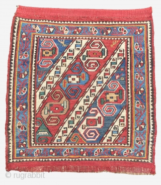 Caucasian Bag Faces 19th Century Size 54x49cm 56x49cm