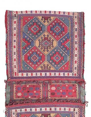 Caucasian 19th Century Verneh Heybe Size 116x57 cm