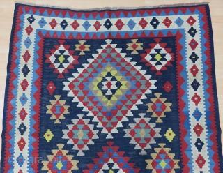 Antique Caucasian Karabagh Kilim Good Colors And Condition Size 163x295 cm / 5'4''x9'7''
