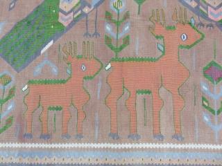 Caucasian Karabagh Kilim Good Condition Size 160x300 cm / 5'3''x9'9''