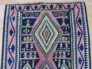 Caucasian Sahnazar Kilim Size 168x355 cm / 5'6''x11'7''