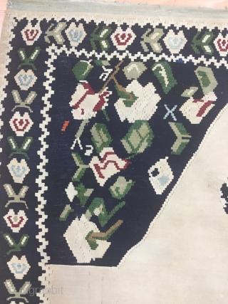 Caucasian Karabagh Kilim Wool And Cotton Size 125x200 cm / 4'1''x6'6''