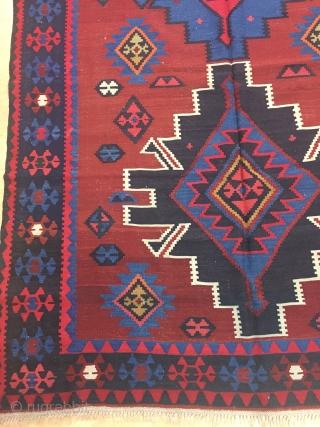 Caucasian Sahnazar Kilim Size 168x325 cm / 5'6''x10'7''