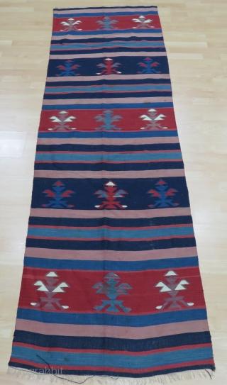 Balkan Kilim Size 80x263 cm / 2'7''x8'7''