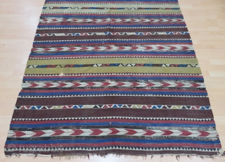 Caucasian Kilim Size 164x293 cm / 5'4''x9'7''