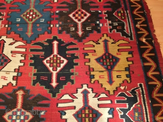 Antique Caucasian Bordjalou Kilim Size 176x356 cm / 5'8''x11'7''
