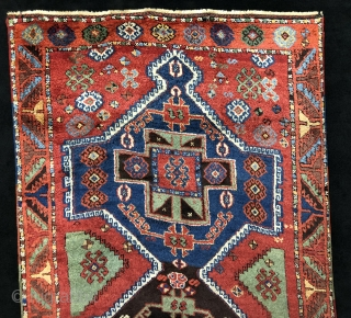 Anatolian Kurdish Rug 19 Century Good Condition And Wonderful Colors Size 113x250 cm / 3'8'' x 8'3''