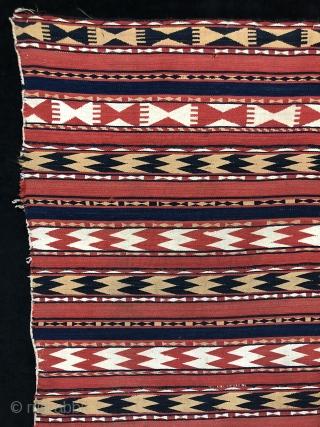 Central Asian Uzbek Ghudgeri Kilim Size 157x223 cm / 5'2'' x 7'4''