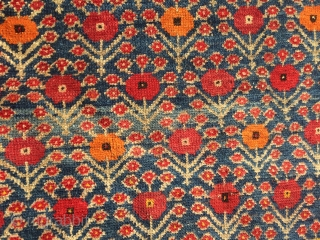 Candy Land.  A late but a beautiful and rare kurdish rug with Khashkhash flowers.