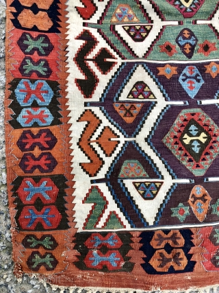 19th Century   Central anatolian early kilim size 86 x 400 cm