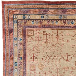 "Antique Chinese Khotan Rug China ca.1890 13'10"" x 9'7"" (422 x 292 cm) FJ Hakimian Reference #08073"