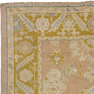 "Antique Turkish Oushak Rug Turkey ca.1900 12'2"" x 8'11"" (371 x 272 cm) FJ Hakimian Reference #04105"