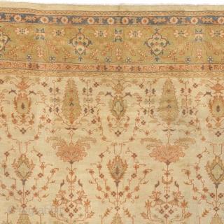 "Antique Turkish Oushak Rug Turkey ca.1900 16'9"" x 12'7"" (511 x 384 cm) FJ Hakimian Reference #04134"