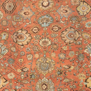 """Antique Persian Sultanabad Rug North-West Persia ca.1890 21'6"""" x 14'2"""" (655 x 432 cm) FJ Hakimian Reference #06143"""