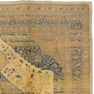 "Antique Persian Tabriz Rug Persia ca.1880 13'0"" x 9'10"" (397 x 300 cm) FJ Hakimian Reference #07066"