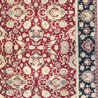 "Antique Indian Agra Carpet India ca.1880 17'10"" x 13'11"" (544 x 425 cm) FJ Hakimian Reference #09045"
