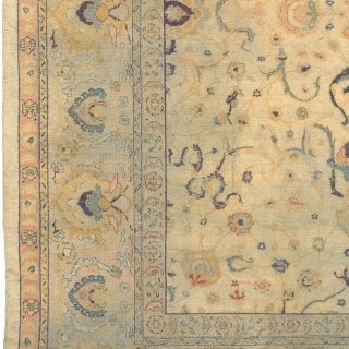 """Antique Indian Amritsar Rug India ca.1910 11'8"""" x 8'11"""" (356 x 272 cm) FJ Hakimian Reference #09061"""