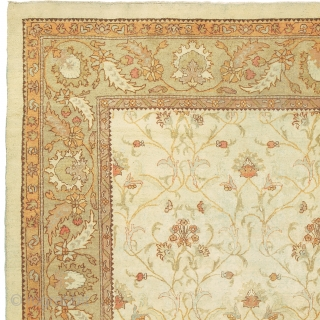 """Antique Indian Amritsar Rug India ca.1900 15'9"""" x 10'1"""" (481 x 308 cm) FJ Hakimian Reference #09090"""