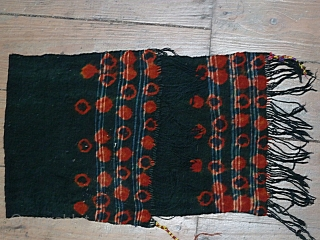 Tunesian head dress, tie-dye. Good condition. Size 85 x 30 Cm