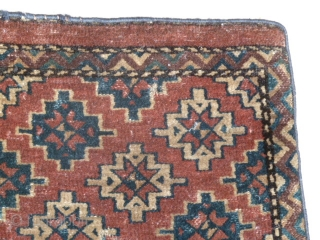 Antique Yomut Turkman Fragment. Size 52 x 42 Cm. 1 small hole Picture backside) and a small old repair.