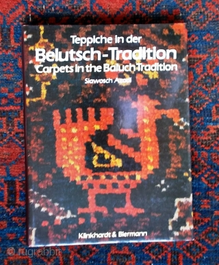 "Baluch rug literature: Bausback: ""Alte Knüpfarbeiten der Belutschen"" €16; Azadi: ""Carpets in the Baluch Tradition"" €28 (€40 combined), plus shipping at cost. Other Baluch rug titles available, please enquire."