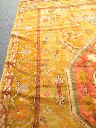 Amazing Antique Turkish Angora Oushak Rug.