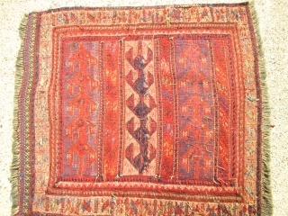 Antique Caucasian Sumac Bag Face.