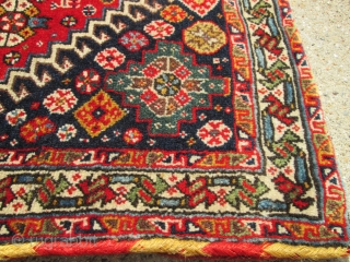 Pair Of Antique Persian  Bag Face Qushgai rugs.