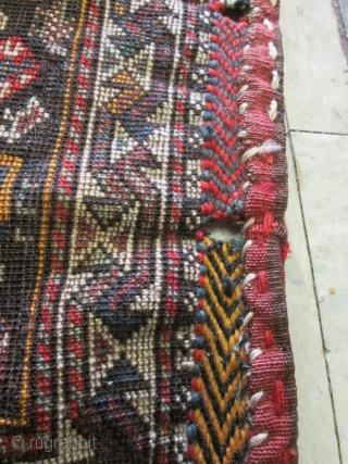 19th Century Qashgai Bag.  size 22''x20''. condition great.lovely bag.collective.