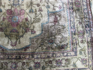 19th Century silk Ferahan Sarouk.
