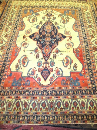 Charming Mid 19th Century Persian Tabriz Very Rare Rug.