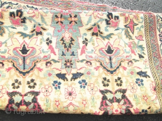Awesome Antique Khorassan Oriental Rug.  size 4'x6'7''.condition very good low even pile .nice design and colors. no repair.