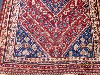 Antique Persian Qashgai Rug.