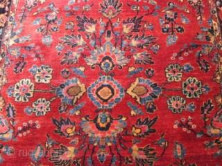 Antique Persian Mohejaran sarouk rug.  size 3'7''x5' condition is excellent .good color .
