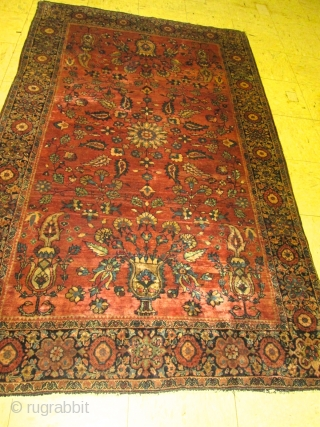 Antique Persian Ferahan Sarouk Rug.