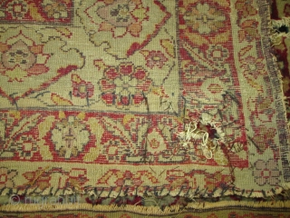 Stunning Mid 19th Century Antique Oriental Rug.  size 4'4''x6'9''.Full pile throgh  out condition. the colors ,quality of the wool is the best.no dry .some damage by the dog  please see photos.  ...