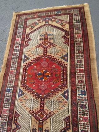 Antique Persian Serab Oriental Rug.  size 3'2''x15' condition full pile ,decorative runner.circa1920.